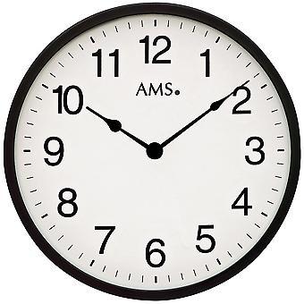 Ścienny zegar kwarcowy analogowych po prostu bardzo płaski czarny biały wokół