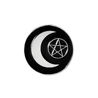 Attitude Clothing Moon Pentagram Enamel Pin