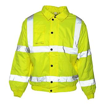 Absolute Apparel Mens Hi viz Bomber takki