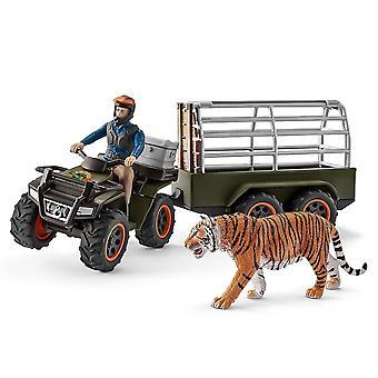 Schleich Quad Bike mit Anhänger und Ranger