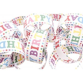 Retro Polka Dot Happy Birthday Paper Chain Set