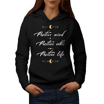 Pozitif Mind Kadınlar BlackHoodie   Wellcoda