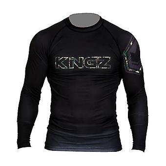 Protector impetuoso de la manga larga de camuflaje Kingz
