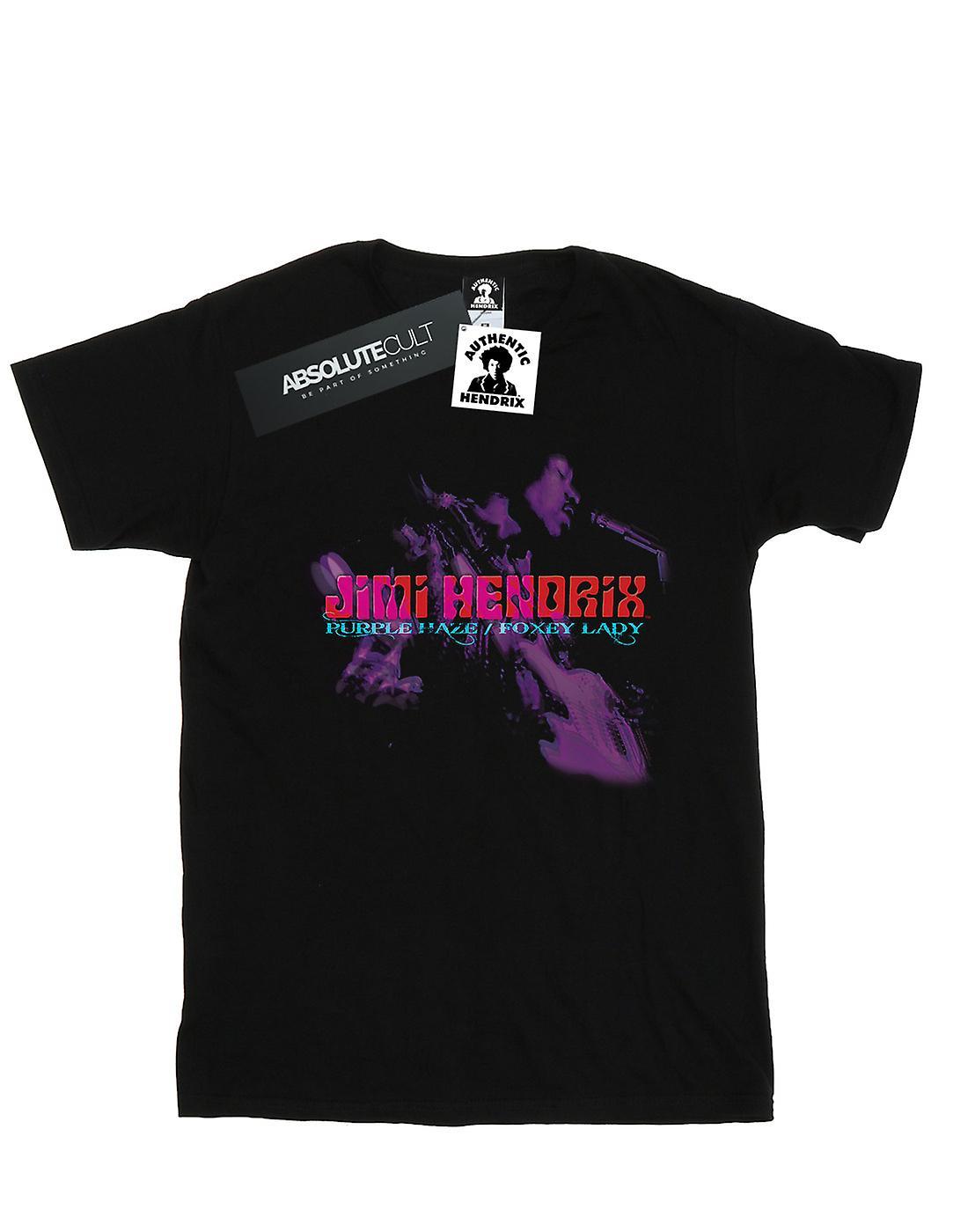 Jimi Hendrix Women's Purple Haze Foxy Lady Boyfriend Fit T-Shirt