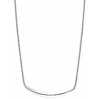Bella Crescent Bar Mesh Necklace - Silver