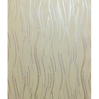 Glitzer Wallpaper Schimmer strukturierte moderne Linien Streifen Beige Braun Silber