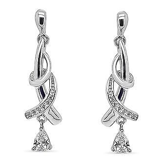 Ah! Biżuteria Twist Design z jasny kropla & betonowa kryształy Swarovski