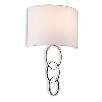 Firstlight - 1 Light Indoor Wall Light Chrome, Cream Shade - 5932CH