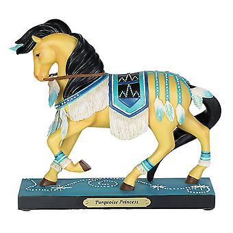 Gemalte Ponys türkisieren Prinzessin Figurine