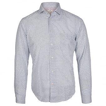 Hartford Fine Paisley print shirt, blauw Paisley