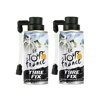 Instant punktering reparasjon 2 x 200ml-Le Tour de France TDF sykkel dekk fastsette Kit