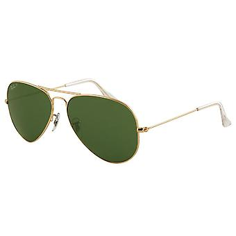 Ray-Ban Gold Aviator Mens Sunglasses RB3025-001/58-58
