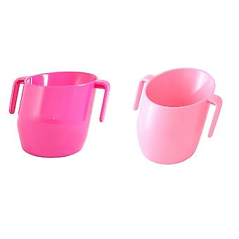 Doidy Cup Bundle - Pink & Cerise - Solid Colour - 2 Items