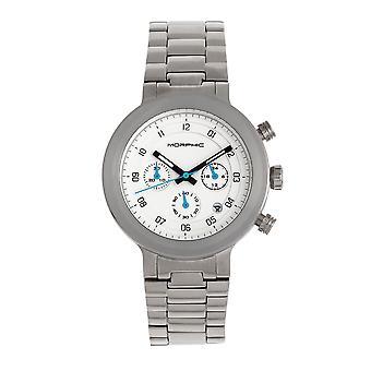 MORPHIC M78 serie chronograaf armband horloge-zilver/wit