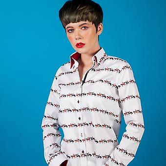 CLAUDIO LUGLI Diana Dressage Horse Print Shirt
