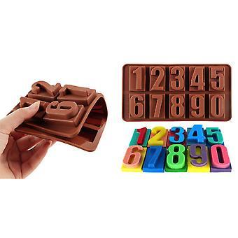 Chocolade/fondant vorm voor het bakken-nummer