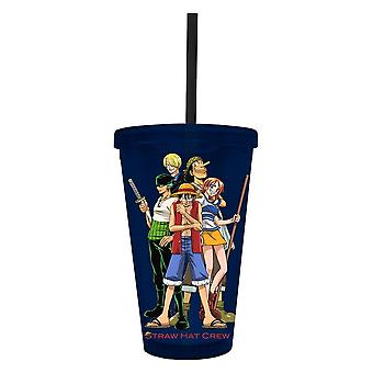 Cold Cup Plastic Strew - One Piece - Straw Hat New cc-op-crew