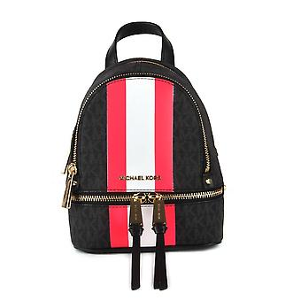 MICHAEL by Michael Kors Rhea Zip Extra Small Black Logo Stripe Backpack