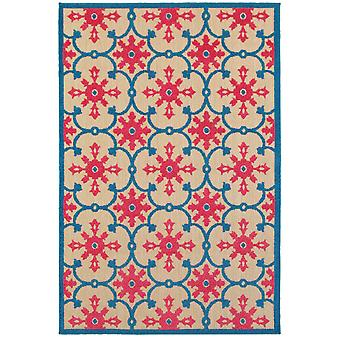 Cayman 190l9 sand/ pink indoor/outdoor rug rectangle 7'10