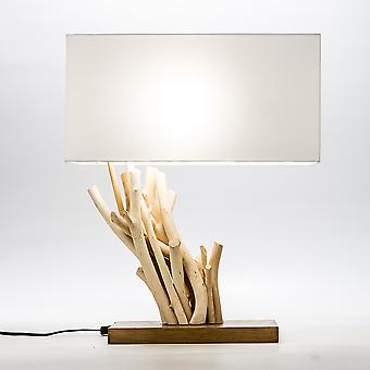 Modern Home Angled Driftwood Nautical Wooden Table Lamp