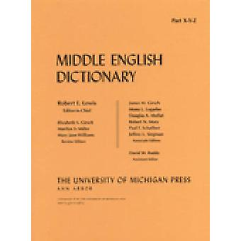 Middle English Dictionary - X/Y/Z by Robert E. Lewis - 9780472012367 B