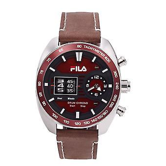 Fila Men's Watch Wristwatch DRUM ROLLER 38-846-002 Leather