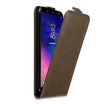 Caso Cadorabo para Samsung Galaxy A6 PLUS 2018 capa de estojo de caixa - estojo de telefone em design flip com fecho magnético - Caso de proteção da caixa Caso de proteção Livro Dobrável Estilo