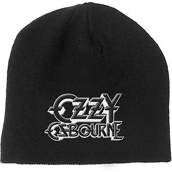 Ozzy Osbourne Beanie Hat Logo Black Sabbath new Official Black