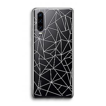 Funda transparente Huawei P30 - Líneas geométricas blancas