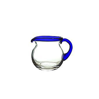 Bergdalshyttan-Blu rimmato-crema Jug Straight 12 cl Design