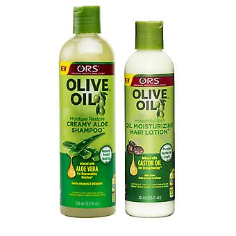 Organic Root Stimulator Olive Oil Shampoo & Moisturizing Hair Lotion
