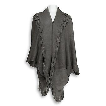 Lizden Women's Plus One Fits All Sweater Shrug Gray A256593
