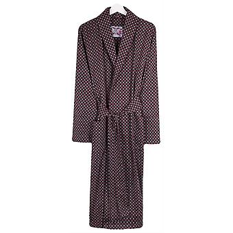 Bown of London VIP Cotton Satin Dressing Gown - Navy/Blue