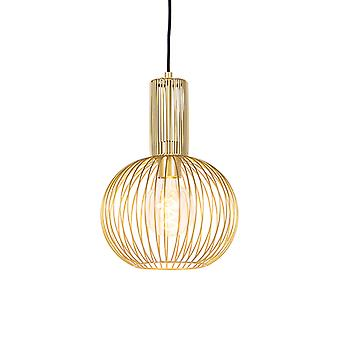 QAZQA Design hanging lamp gold - Wire Whisk