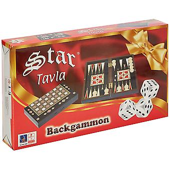 Staroyun 1020722 17.5 x 32 x 5 cm Antique Little Mosaic Backgammon Toy