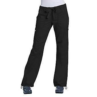 KOI Women's Lindsey Ultra Comfortable Cargo Style Scrub, Black, Size XX-Large