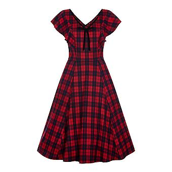 Collectif Vintage Women's Arabella Ettrick Check Swing Dress