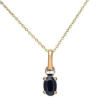 Citerna Necklace with Women's Pendant - Bicolor Gold - Sapphire