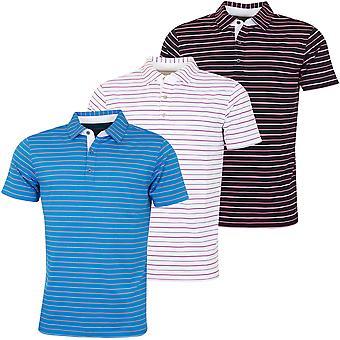 Bobby Jones Mens Rule 18 Tech Del Sol Stripe Stretch Golf Polo Shirt