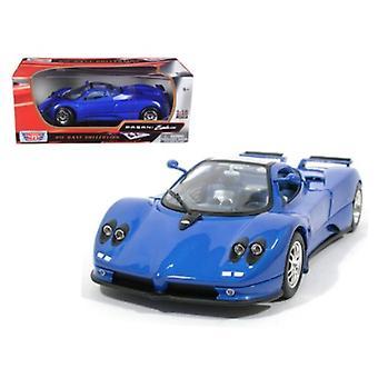Pagani Zonda C12 Blue 1/18 Diecast Model Car By Motormax