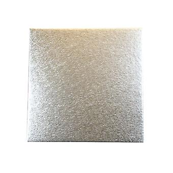 """Culpitt 14"""" (355mm) einzelne dicke Quadrat Schnitt Rand Kuchen Karten Silber Farn (1,8 mm dick) Packung mit 25"""