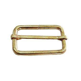 32mm Metal Gold Triglide Sliding Bar Buckle