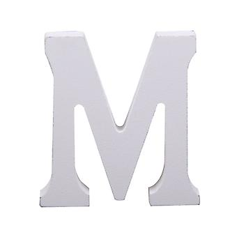 White Large Capital Alphabet Letters-M