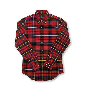 Ralph Lauren lim fit cotton caual hirt in red and black check