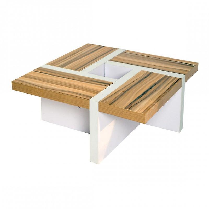 Rebecca meubles table basse table salon bois blanc marron design moderne chambre