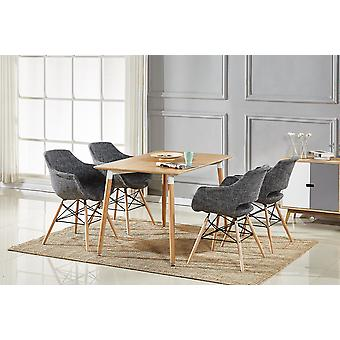 Olivia  Fabric Halo Dining Set