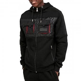 Glorious Gangsta Galante Black Utility Zip Up Hoody Sweatshirt