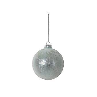 Lys & Levende Christmas Bauble Runde 8cm Ball Glass Lyseblå