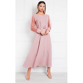 IKRUSH Womens Viv Mesh Sleeve Maxi Dress