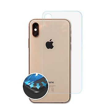 atFoliX 3x Protective Film compatible with Apple iPhone XS Back cover clear&flexible